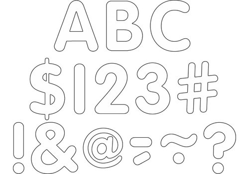 """Teacher Created Resources White Classic 2"""" Letters Uppercase Pack"""