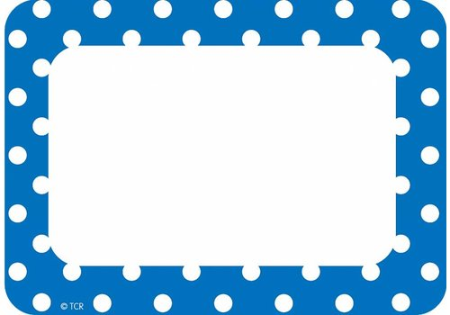 Teacher Created Resources Blue Polka Dots Name Tags/Labels