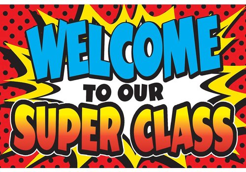 Teacher Created Resources Superhero Welcome Postcards