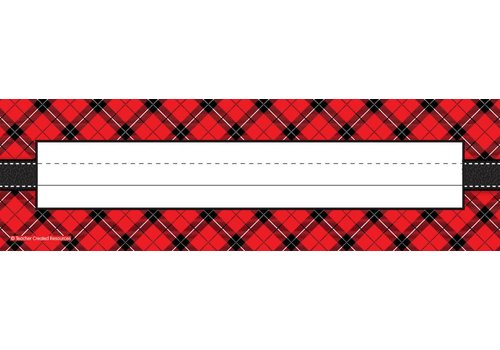Teacher Created Resources Red Plaid Name Plate