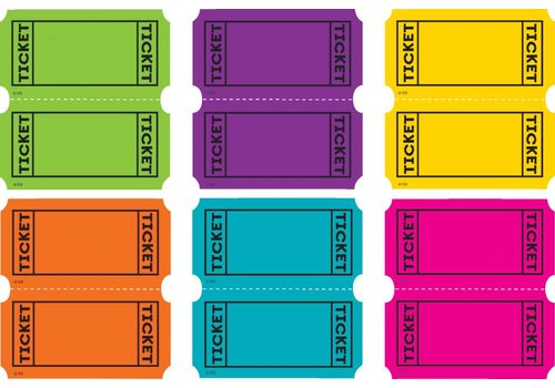 Teacher Created Resources Bright Colors Tickets Mini Accents