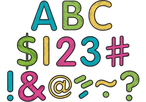 "Teacher Created Resources Chalkboard Brights Classic 2"" Letters Uppercase Pack"