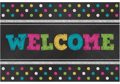 Teacher Created Resources Chalkboard Brights Welcome Postcards
