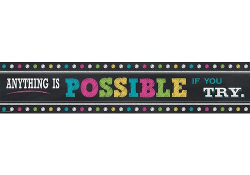 Teacher Created Resources Chalkboard Anything is Possible  Banner