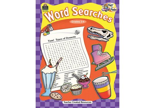 Teacher Created Resources Start to Finish: Word Searches (Gr. 3-4)