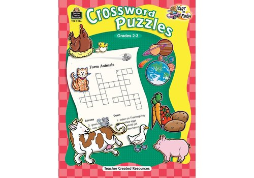 Teacher Created Resources Start to Finish: Crossword Puzzles (Gr. 2-3)