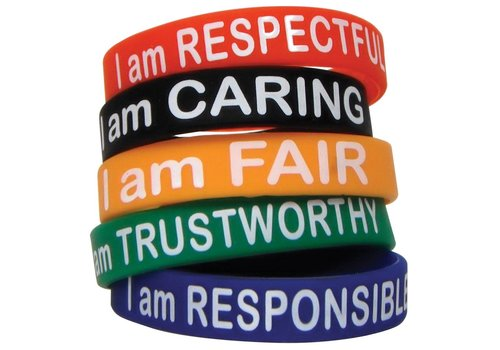 Teacher Created Resources Character Traits Bracelets, 10 pack