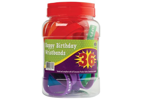 Teacher Created Resources Happy Birthday Wristbands Jar (36 ct)