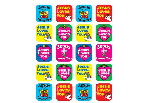 Teacher Created Resources Jesus Loves You Stickers