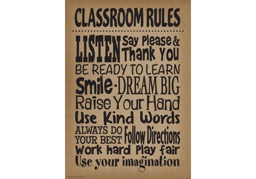Teacher Created Resources Burlap Classroom Rules Positive Poster *