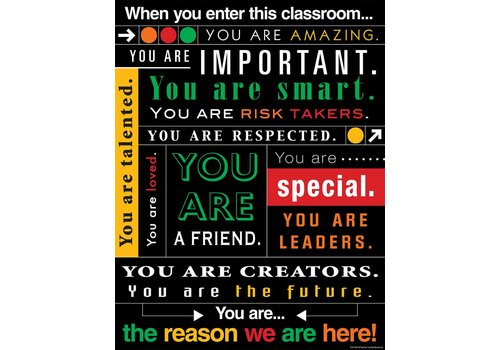 Teacher Created Resources When You Enter This Classroom...Subway Art Chart