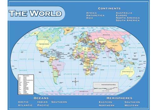 Teacher Created Resources World Map Chart*