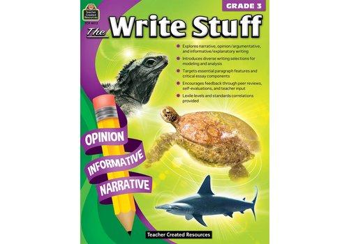 Teacher Created Resources The Write Stuff Grades 3 *