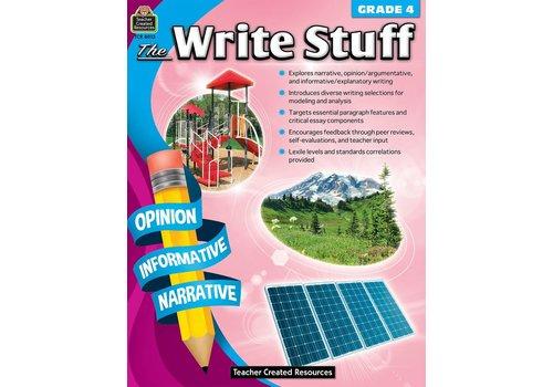 Teacher Created Resources The Write Stuff Grades 4 *