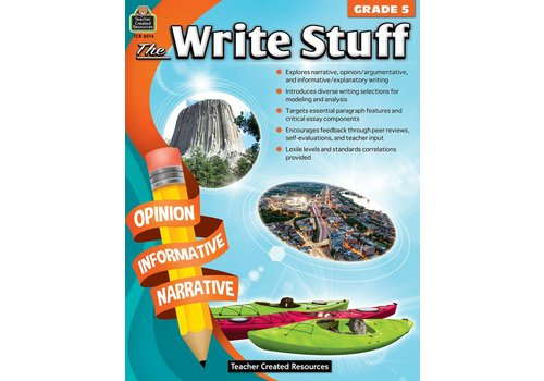 Teacher Created Resources The Write Stuff Grades 5 *