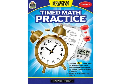 Teacher Created Resources Minutes to Mastery - Timed Math Practice (Gr. 1)