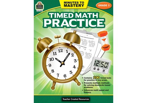 Teacher Created Resources Minutes to Mastery - Timed Math Practice (Gr. 3)