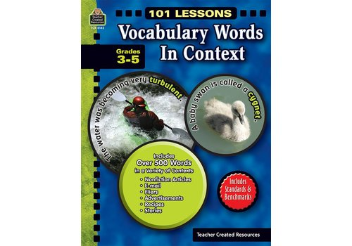 Teacher Created Resources 101 Lessons: Vocabulary Words in Context (Gr. 3-5)