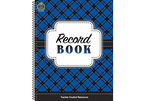 Teacher Created Resources Plaid Record Book*