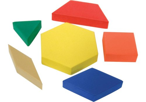 Teacher Created Resources Foam Pattern Blocks, 42 count