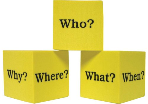 Teacher Created Resources Foam Question Cubes