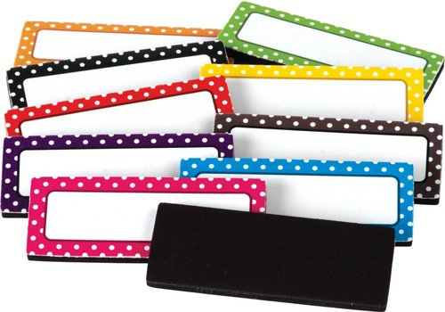 Teacher Created Resources Polka Dots Magnetic Labels *