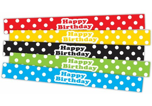 Teacher Created Resources Polka Dots Happy Birthday Slap Bracelets