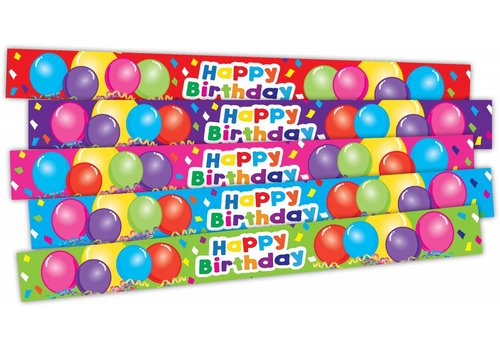 Teacher Created Resources Happy Birthday Balloons Slap Bracelets