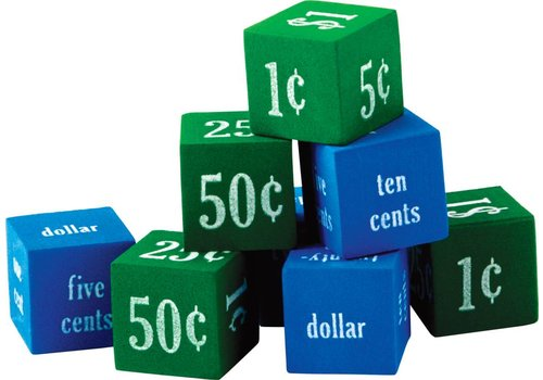 Teacher Created Resources Foam Money Dice