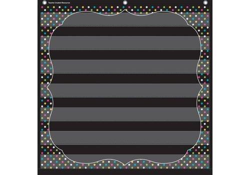 "Teacher Created Resources Chalkboard Brights 7 Pocket Chart (28"" x 28"")"