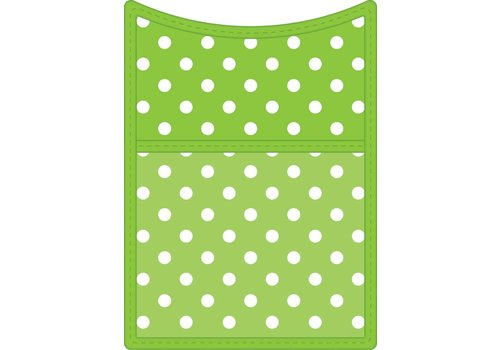 Teacher Created Resources Lime Polka Dots Magnetic Storage Pocket