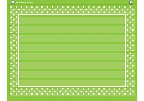 "Teacher Created Resources Lime Polka Dots Mini Pocket Chart (17"" x 22"")"