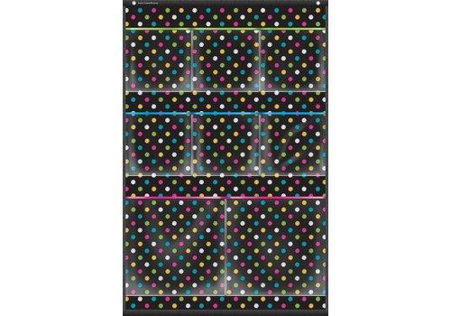 "Teacher Created Resources Chalkboard Brights 8 Pocket Small Storage Pocket Chart (15"" x 23"")"