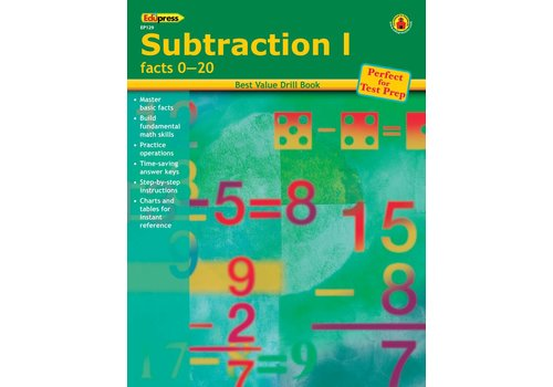Teacher Created Resources Subtraction 1 Drill Book 0-20