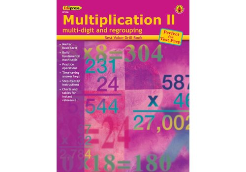 Teacher Created Resources Multiplication 2 Drill Book