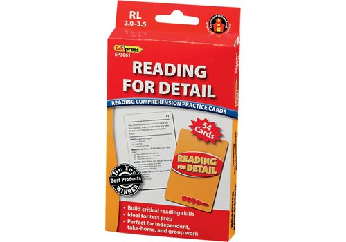 Teacher Created Resources Reading For Detail Comprehension Cards, RL 2.0-3.5