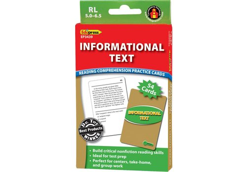 Teacher Created Resources Informational Text Comprehension Cards, RL 5-6.5