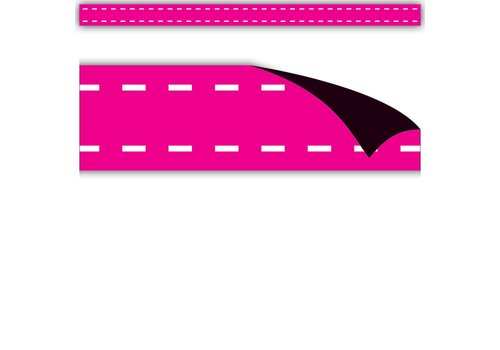 Teacher Created Resources Hot Pink Stitch Magnetic Strips