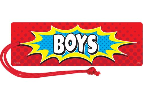 Teacher Created Resources Superhero Magnetic Boys Pass