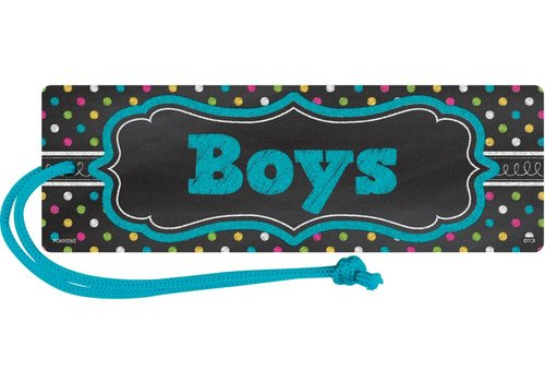 Teacher Created Resources Chalkboard Brights Magnetic Boys Pass