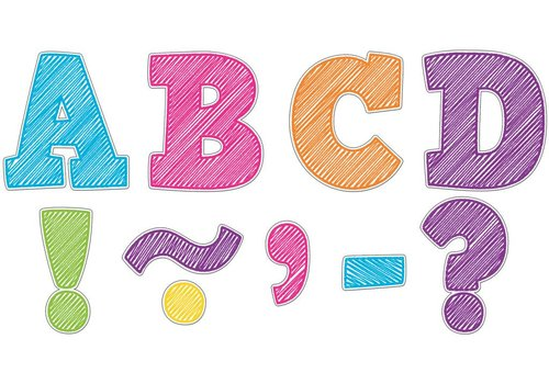 """Teacher Created Resources Scribble Magnetic Letters 3"""""""