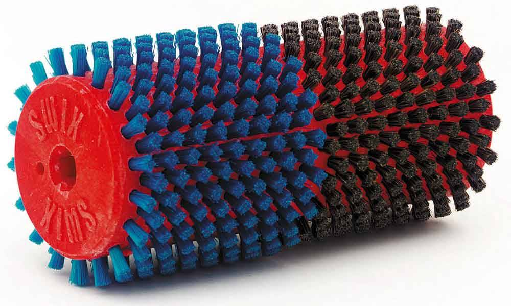 SWIX Double Brush, 140mm Horsehair/Nylon Blue