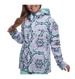 686 Dream Insulated Jacket-Ice Blue Carousel