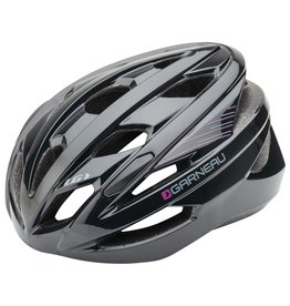 GARNEAU WOMEN'S AMBER CYCLING HELMET NOIR/MAUVE BLACK/PURPLE UW