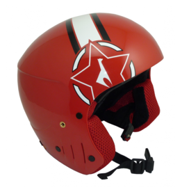 vola CASQUE WHITE RED FIS