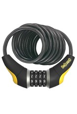 Onguard OnGuard, Doberman 8031, Coil cable with combination lock, 12mm x 185cm (12mm x 6')
