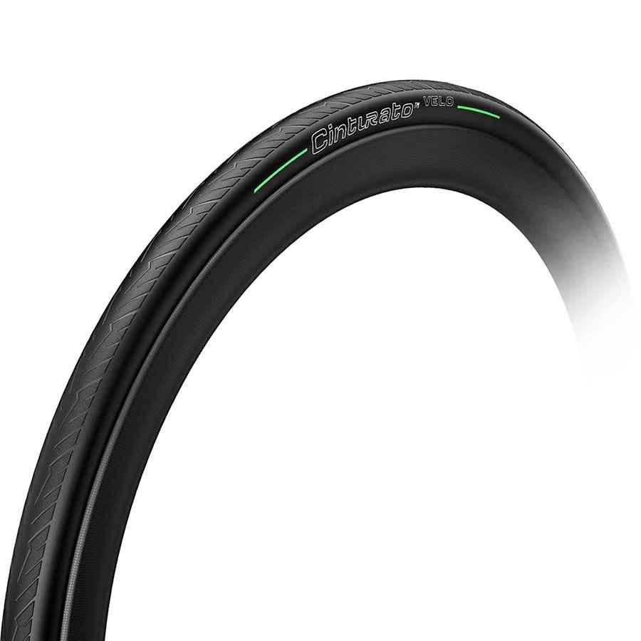 Pirelli Pirelli, Cinturato Velo, Pneu, 700x28C, Pliable, Tubeless Ready, Smartnet Silica, 66TPI, Noir