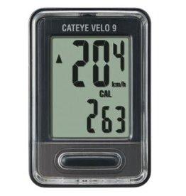 Cat Eye Velo 9 (CC-VL80), Cyclometre, Noir