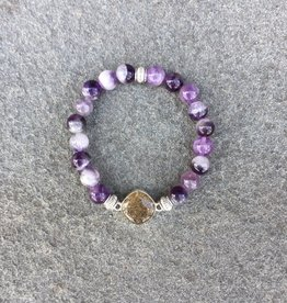 ShoreLine ShoreLine, Naples Sand Bracelet, Amethyst