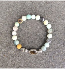 ShoreLine ShoreLine, Naples Sand Bracelet, Flower Amazonite